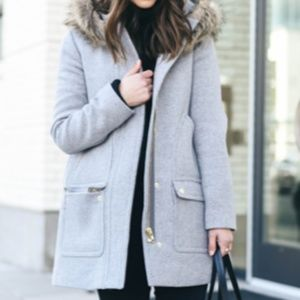 J Crew Gray Winter Coat